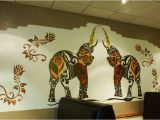 Hand Painted Wall Murals Pricing Uk Lagan Indian Restaurant Indian Elephant Wall Mural