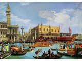 Hand Painted Wall Murals Uk Bucentaur S Return to the Pier by the Palazzo Ducale