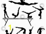 Hand Painted Wall Murals with Gymnastics Silhouettes 11 Best Gymnastics Images