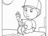 Handy Manny Coloring Pages to Print Handy Manny 1 Free Disney Coloring Sheets