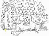 Hansel and Gretel Candy House Coloring Page Hansel and Gretel Coloring Page