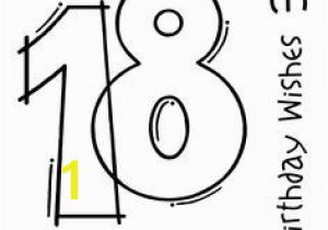 Happy 18th Birthday Coloring Pages 131 Best Digital Stamps Get Better Wishes Images