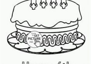 Happy 4th Birthday Coloring Pages 215 Best Coloring Cake S Images On Pinterest