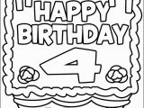 Happy 4th Birthday Coloring Pages Happy 4th Birthday Coloring Pages
