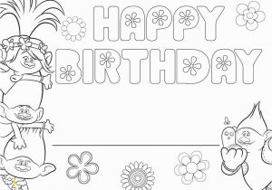 Happy 4th Birthday Coloring Pages Happy Birthday Pages to Color Luxury Free Printable Troll Coloring