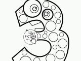 Happy 5th Birthday Coloring Pages Happy 3rd Birthday Number Coloring Page for Kids Holiday Coloring