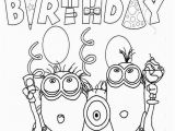 Happy 6th Birthday Coloring Pages Happy Birthday Minion Template for Children Happy Birthday Coloring