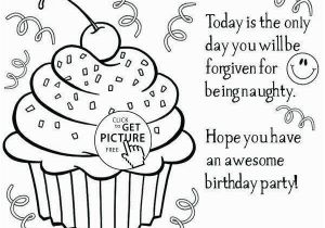 Happy B Day Coloring Pages Birthday themed Coloring Pages Beautiful Happy Birthday Coloring