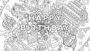 Happy Birthday Coloring Pages for Adults 25 Free Printable Happy Birthday Coloring Pages