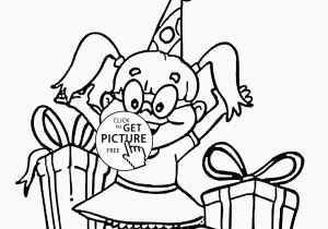 Happy Birthday Coloring Pages for Girls Happy Birthday Girl Coloring Page for Kids Holiday