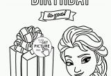 Happy Birthday Coloring Pages for Girls Happy Birthday to You From Elsa Coloring Page for Kids