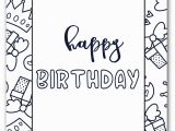 Happy Birthday Coloring Pages Free to Print Coloring Pages Ideas Happy Birthday Coloring Pages Happy