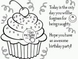 Happy Birthday Coloring Pages Free to Print Happy Birthday Cupcake Coloring Page for Kids Holiday