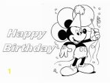 Happy Birthday Mickey Mouse Coloring Pages Happy Birthday Mickey Mouse Coloring Page Happy Birthday