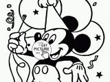 Happy Birthday Mickey Mouse Coloring Pages Mickey and Happy Birthday Coloring Page for Kids Holiday