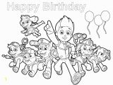 Happy Birthday Paw Patrol Coloring Pages Paw Patrol Birthday Happy Birthday Coloring Page