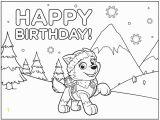 Happy Birthday Paw Patrol Coloring Pages Paw Patrol Birthday