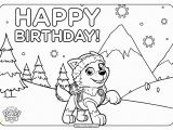 Happy Birthday Paw Patrol Coloring Pages Printable Paw Patrol Happy Birthday Coloring Pages