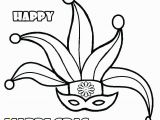 Happy Mardi Gras Coloring Pages Mardi Gras Coloring Pages Masks Mask Happy Free Printable