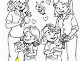 Happy Mothers Day 2018 Coloring Pages Printable Happy Mother and Daughter In the Park Coloring Pages