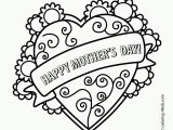 Happy Mothers Day Coloring Pages From Daughter Free Printable Mother S Day Coloring Pages