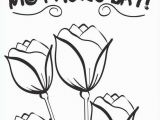 Happy Mothers Day Coloring Pages Roses Easy Violet Flower Coloring Page for Preschool Ideas Free Mothers