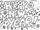 Happy New Year 2018 Coloring Pages Color Print 13 Line Coloring