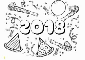 Happy New Year 2018 Coloring Pages Happy New Year Coloring Pages to Print
