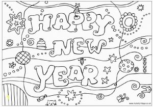 Happy New Year Coloring Pages 2018 New Year Colouring Pages