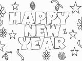 Happy New Year Coloring Pages New Year Drawing at Getdrawings