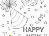 Happy New Year Coloring Pages Preschool Happy New Year Party Hats Coloring Page Church Stuff