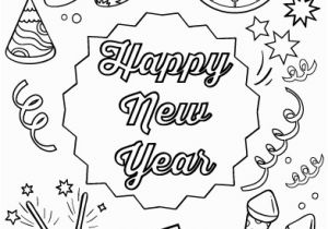 Happy New Year Coloring Pages Printable Happy New Year Coloring Pages Best Coloring Pages for Kids