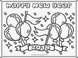 Happy New Year Coloring Pages to Print 新的 Coloring Pages