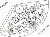 Happy New Year Coloring Pages to Print Print Out Happy New Year Party Hat Coloring for Kids Printable