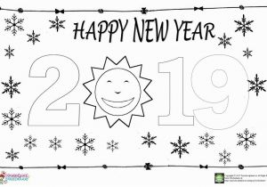 Happy New Years Coloring Pages Happy New Year Coloring Page for Kids