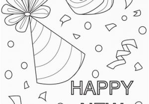 Happy New Years Coloring Pages New Year Confetti Coloring Page