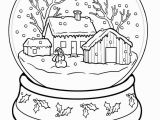 Hard Christmas Coloring Pages Winter Coloring Pages Snow Globe Coloringstar