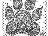 Hard Coloring Pages that You Can Print Instant Download Dog Paw Print You Be the Artist Dog Lover Animal