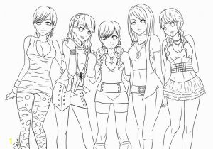 Hard Girl Coloring Pages Gambar Anime Girls Coloring Pages Free and Cute Studynow Me