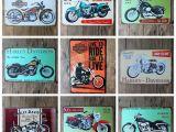 Harley Davidson Motorcycle Wall Murals 2019 2016 20 30cm Classic Retro Motorider Motorcycle Tin Sign Coffee Shop Bar Restaurant Wall Art Decoration Bar Metal Paintings From Cker $37 19