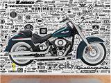 Harley Davidson Motorcycle Wall Murals 999store Indian Wallpaper Harley Davidson Bike Textured