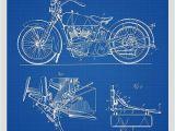 Harley Davidson Motorcycle Wall Murals Harley Davidson Motorcycle Patent Print Art Poster – Patent