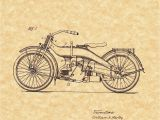 Harley Davidson Motorcycle Wall Murals Patent Print Harley Davidson Motorcycle 1924 Art Print Ready