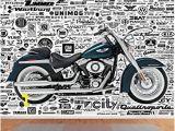Harley Davidson Wall Mural 999store Harley Davidson Bike Leather Wallpaper Wall Murals for
