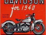 Harley Davidson Wall Mural Shop 1940 Harley Davidson Ad Cars and Motorcycles