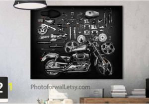 Harley Davidson Wall Murals Harley Davidson Art Wall Decor Large Wall Art Canvas
