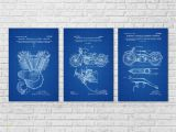 Harley Davidson Wall Murals Harley Davidson Patent Collection Of 3 – Patent Prints Wall Decor