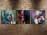 Harley Quinn Wall Mural 2019 Harley Quinn 3p Canvas Painting Living Room Home Decor Modern Mural Art Oil Painting 01 From Wujia002 $12 07