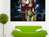 Harley Quinn Wall Mural Riesen Poster Kunstdrücke Und Wandtatoo at Art2