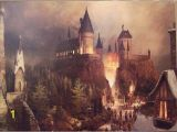 Harry Potter Castle Wall Mural Hogwarts Painting Hogwarts